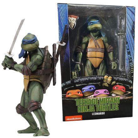 "NECA Teenage Mutant Ninja Turtles 1990 Movie 7"" Scale Action Figure - Leonardo"